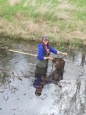 Working in the wetlands!